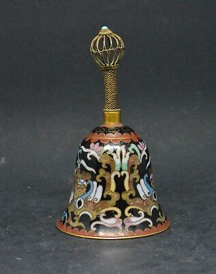 Antique Chinese Cloisonne Bell ~ 4 Inches tall ~