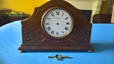 Vintage clock for restoration - Wooden inlaid case - French mechanism Dyson & So