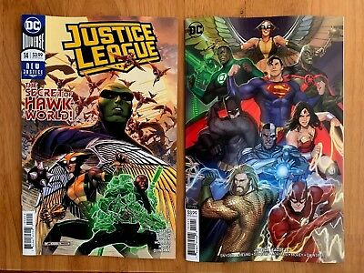Justice League 14 2018 Cheung Main Cover + Sejic Variant Cover Set DC NM+