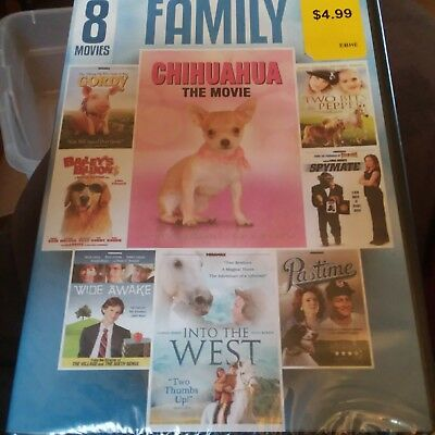 8 MOVIE FAMILY COLLECTION New DVD Gordy Into the West Chihuahua the Movie
