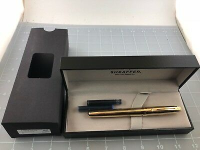 Judd's Very Nice NEW Sheaffer Prelude 22kt. Gold Plate Fountain Pen
