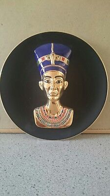 Bradex Egyptian mask plate Nefertiti