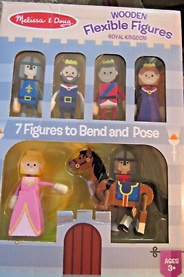Melissa /& Doug # 2474 7 Pc.CAREERS FAMILY Wooden Flexible Figures  New 2018