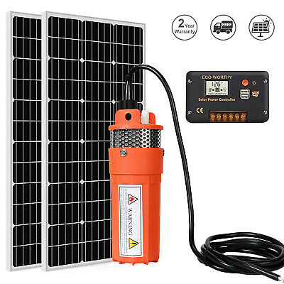 200W Poly Solar Panel & DC24V Solar Submersible Water Pump System&15A Controller