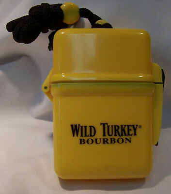 Rare Wild Turkey Bourbon First Aid Waterproof Plastic Bos With Cord Empty