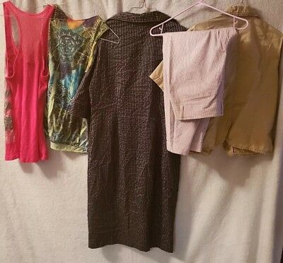 Womens Lot Size 14 Large Xlarge Of Clothes Dresses, Tops,
