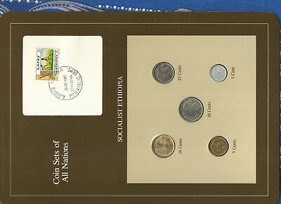 Coin Sets of All Nations Ethiopia 50,25,10,5,1 cents 1977 UNC British Mint
