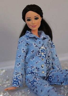 Clothes for Barbie Doll. Flannel Pajamas for Dolls №2