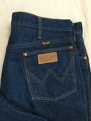 ee7a81e6 Vintage Wrangler Jeans Mens 36x28 Straight Leg Cowboy 13MWZPW USA Made NWOT