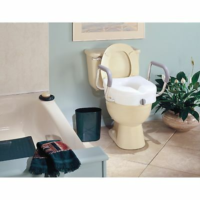 Carex EZ Lock Raised Toilet Seat Riser with Adjustable and Removable Arms
