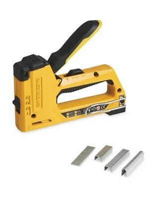Heavy-Duty Hand Staple Nail Gun Stapler Nailer Tacker + 1000 Staples & Nails