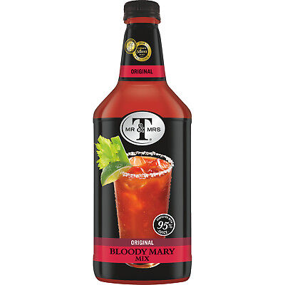 (6 Bottles) Mr & Mrs T Original Bloody Mary Mix, 1.75 L