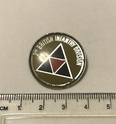 Vintage - 3rd Infantry Division - 3 Div - British Army - Pin Badge