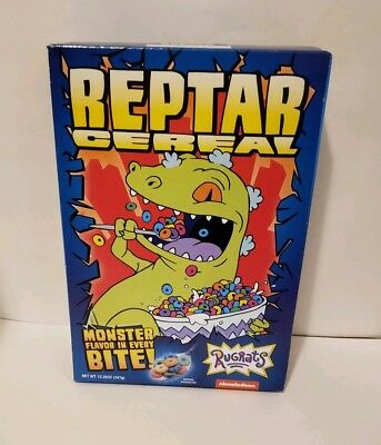 Reptar Cereal Box Fye Exclusive Rugrats Nickelodeon Collectible New In Box