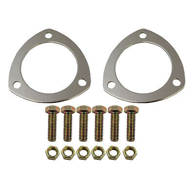 """3"""" Triangle Soft Crush Aluminum Header Collector Gaskets With Bolts 3in"""