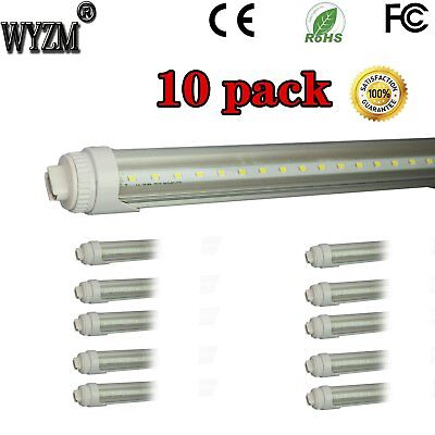 WYZM 10-Pack 40W 8ft LED Tube (R17d) Base T12 LED Tube Light,Replacement for F..