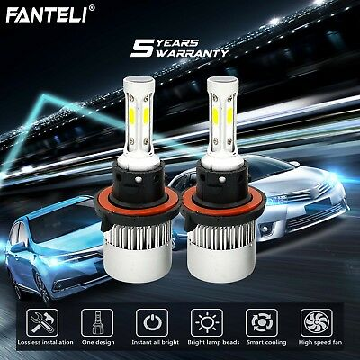 H13 9008 LED Headlight Kit for Ford F150 2004-2014 High Low Beam 1950W 292500LM
