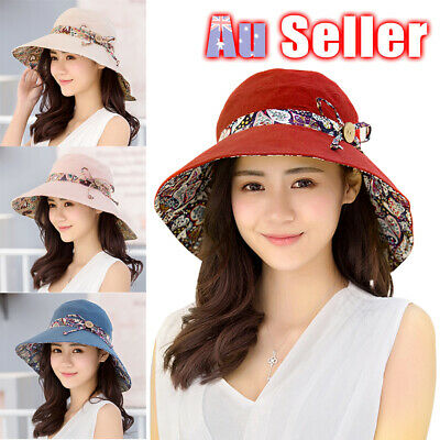 Beach Sun Hats Travel Cap Folding Wide Brim Floppy Caps Women Summer Hat
