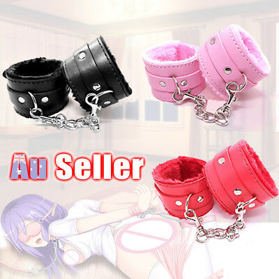 Ring Ankle Cuffs Slave Hand Handcuffs Up Restraint Toy Leather Furry Sex