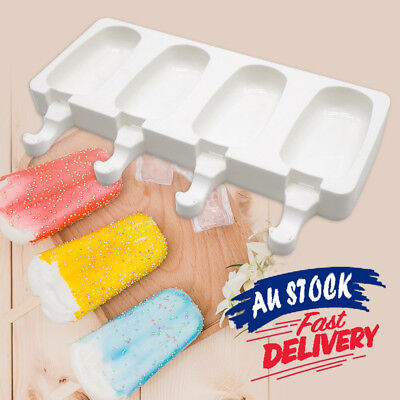 Maker Mold Ice Cream Popsicle Frozen Mould DIY Tool Silicone Block Pole Lolly