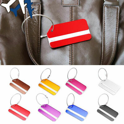 1PC Aluminium Travel Luggage Tags Suitcase Label Name Address ID Bag Baggage Tag