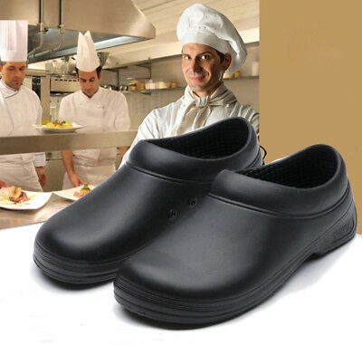 Chef's Catering Work Shoes Food Industry Safety Hospital Black Anti Slip UK 4-10