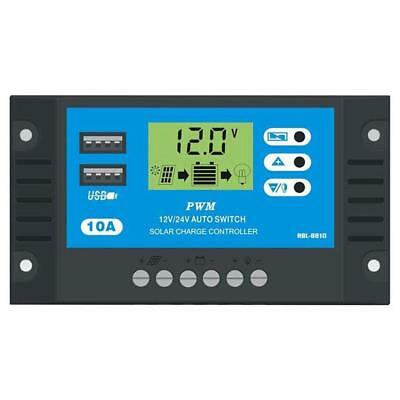 12V/24V 10A HD LCD Display PWM Auto Solar Panel Battery Charger Controller
