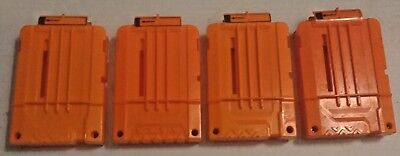 Lot Of 4 Nerf Dart Gun 6 Round Ammo Magazine Clip N-Strike