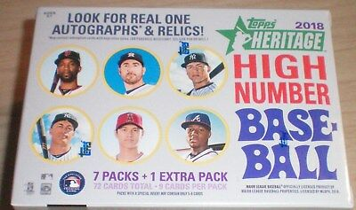 2018 Topps Heritage High Number Baseball Factory Sealed Blaster Box