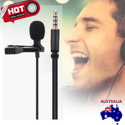 3.5mm Clip-on Lapel Mini Lavalier Mic Microphone For Mobile Phone PC Recording