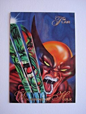 1994 FLEER *FLAIR 94 MARVEL UNIVERSE* CARD #34 WOLVERINE vs HULK