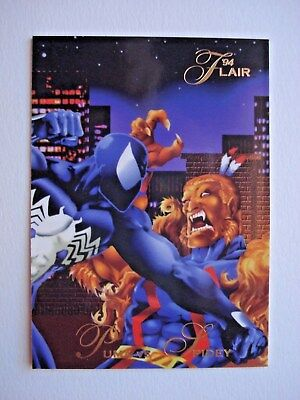 1994 FLEER *FLAIR 94 MARVEL UNIVERSE* CARD #49 PUMA vs SPIDEY