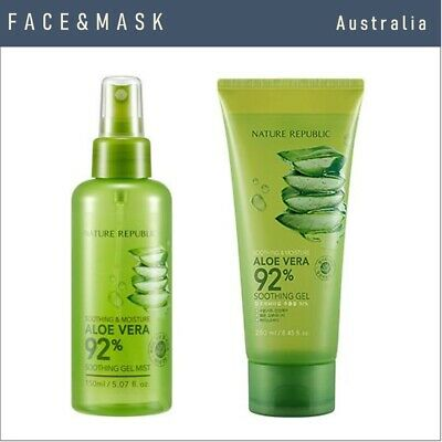 Nature Republic Soothing Aloe Vera 92% Mist 150Ml And Gel 250Ml (Set)