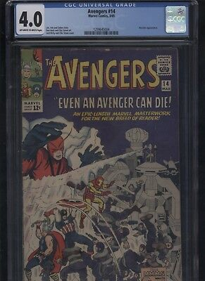 The Avengers #14 CGC 4.0 Stan Lee JACK KIRBY 1965