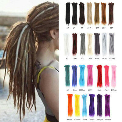 New Women African Style Ombre Synthetic Braid Dreads Dreadlocks Hair Extensions