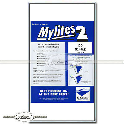 50 - Mylites 2 Legal for Graded Comics (CGC, CBCS, PGX) 2-Mil Mylar Bags - 914M2
