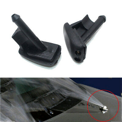 2x Front Windshield Washer Jet Water Nozzle Spray Black For BMW 3 Series Z3 E36
