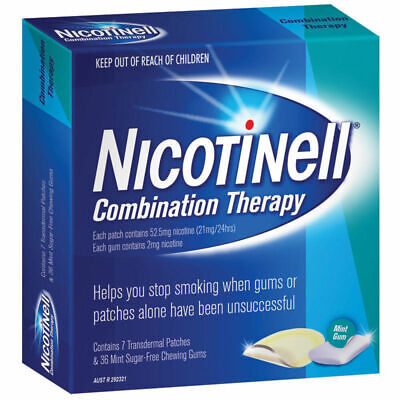 New Nicotinell Combination Therapy 21mg 7 Patches 2mg 36 Chewing Gum