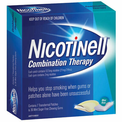 Nicotinell Combination Therapy 21mg 7 Patches 2mg 36 Chewing Gum