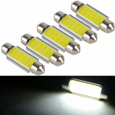 20X 24V Festoon 41mm 42mm Bicuspide COB Light C5W LED Panel Car Reading Light
