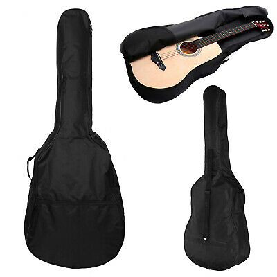 """41"""" Black  Full Size Acoustic Classical Guitar Bag Case Cover High Quality UK"""
