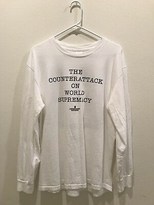 24214250fb3f Supreme x Undercover Public Enemy Counterattack White Long Sleeve Size  Medium