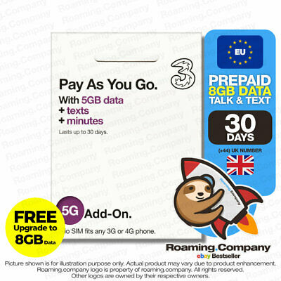 UK &72Countries 30Day 10GB DATA UNLIMITED TALK TEXT Travel Europe EU Prepaid SIM