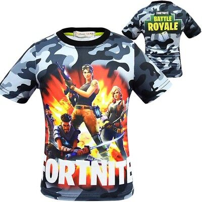 Boys Fortnite Battle Royale T-Shirt Kids Short Sleeve Shirt Xbox Summer Top Tee