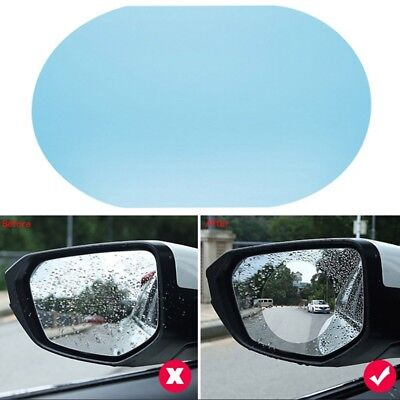 2 Pcs Oval Car Auto Anti Fog Rainproof Rearview Mirror Protective Film Accessory