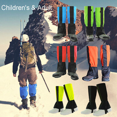 Waterproof Leg Gaiters boot shoe cover long legging nylon hunting hiking Outdoor
