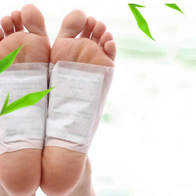 """4 Bag/8Pcs Foot Pad Patch Body Massager Bamboo Herbal Plaster Stress Relief""""#"""