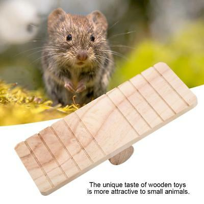 Wooden Seesaw Bridge Toy Exercise Chew Play Pet For Hamster Rat Mouse Mice Funny