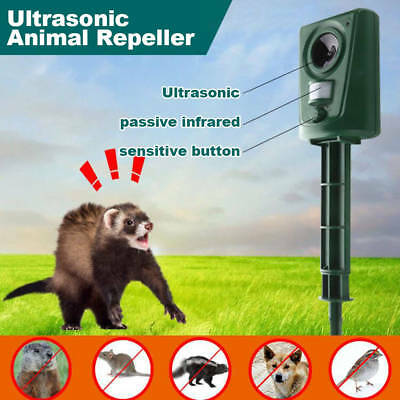 Ultrasonic Battery Pest Animal Repeller Rats Dog Mouse Garden Repellent Chaser