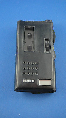 Harris Lanier Model P-134 Micro Cassette Recorder With Leather Case * For Parts